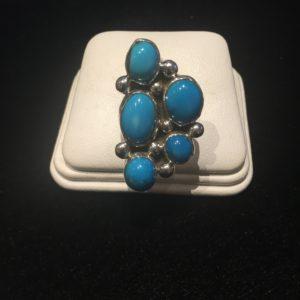 5 Stone Turquoise Ring